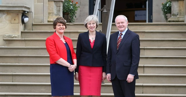 UK leader May in Northern Ireland to allay Brexit concerns