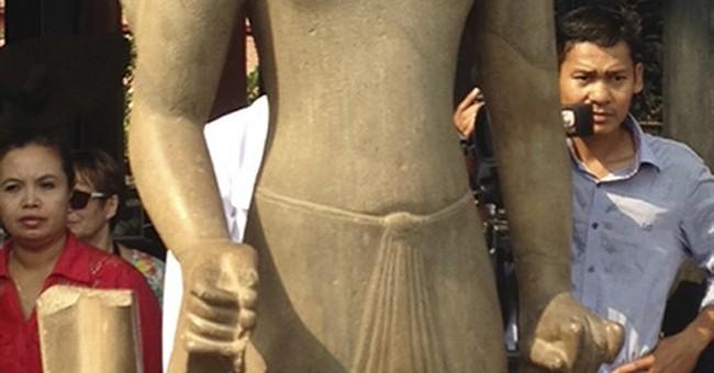 France returns head of Hindu statue taken 130 years ago