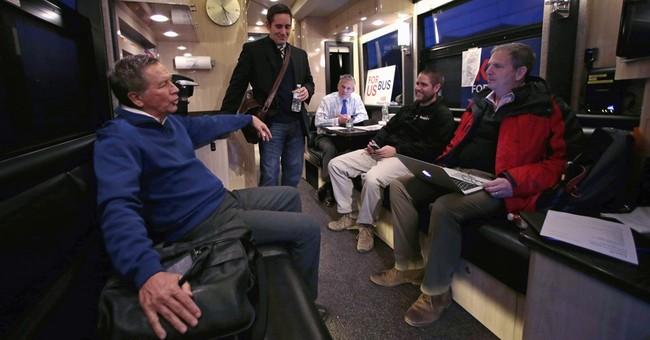 AP Conversation: Kasich bets against voter anger