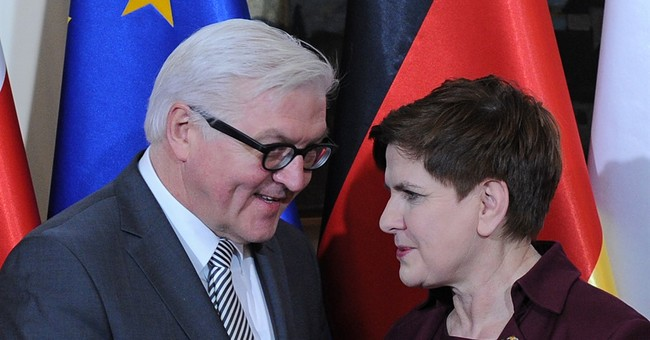 German, Polish leaders take conciliatory tone amid tensions