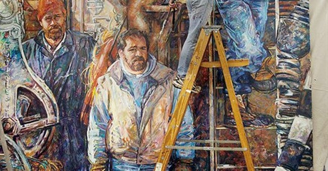 Dream of 3-D mural honoring American workers nearer reality