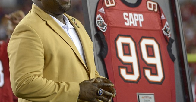 Warren Sapp bitten by shark during Florida Keys lobster trip