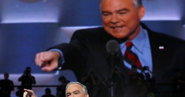 NC GOP mistakenly harangues Kaine for lapel pin, apologizes