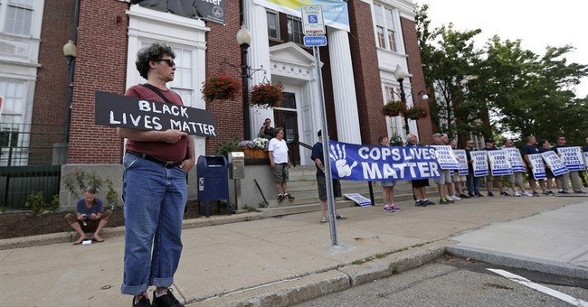 Police rally as mayor says Black Lives Matter banner stays