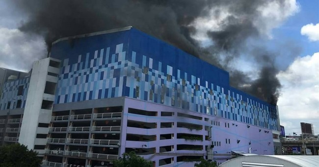Fire collapses roof at Bangkok theater, no serious injuries