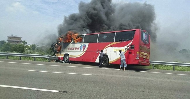 Taiwan driver in deadly bus crash was drunk, police say