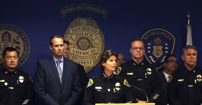 San Diego police view body-camera footage in officer killing