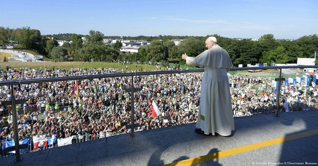 The Latest: Organizers say 1.6 million at event with pope