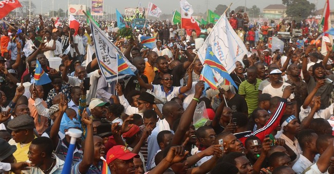 Tens of thousands in Congo call for elections as scheduled