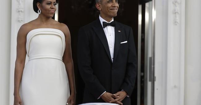 Michelle Obama wears gown by Brandon Maxwell, Gaga stylist