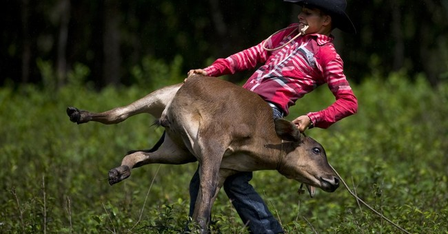 AP PHOTOS: Cuban cattle country keeps up rodeo traditions