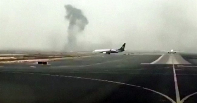 The Latest: Emirates CEO: Firefighter killed at airport