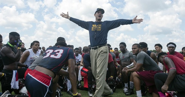 Harbaugh's Q Score soars past Saban's with target audience