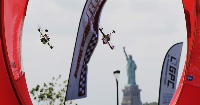 Drone pilots gather on NYC island for racing championship