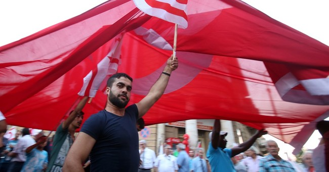 Thousands denounce Turkey coup in Cyprus' breakaway north