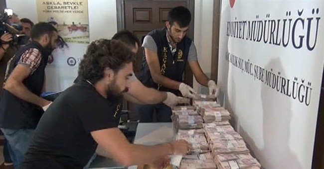 Turkey: Dollar bills seen as evidence of coup-plotter links