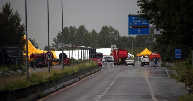Cargo plane overshoots runway at Italy's Bergamo airport