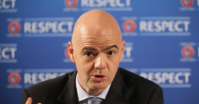 FIFA candidate Infantino addresses UEFA members