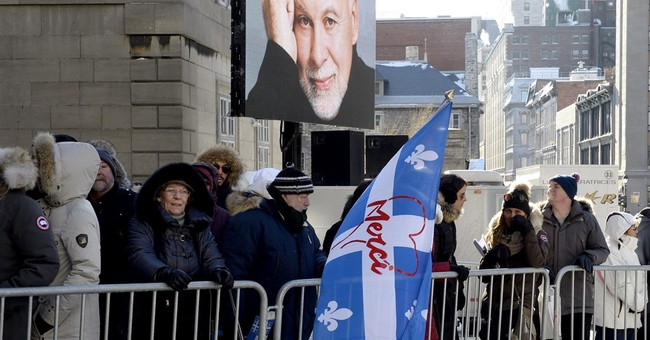 Friends, family join Celine Dion in service for husband