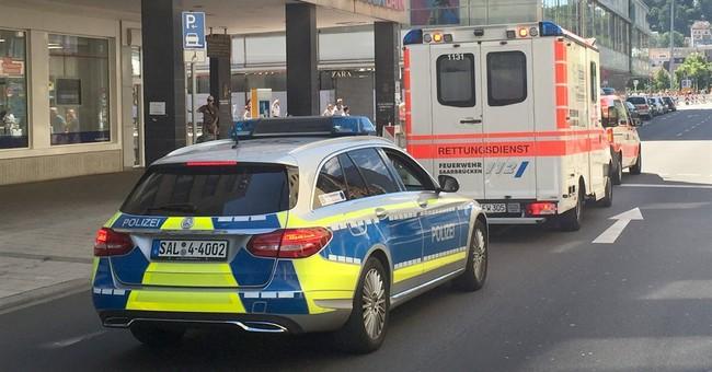 German police: Man who barricaded himself asleep in basement