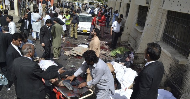 The Latest: White House condemns Quetta hospital bombing