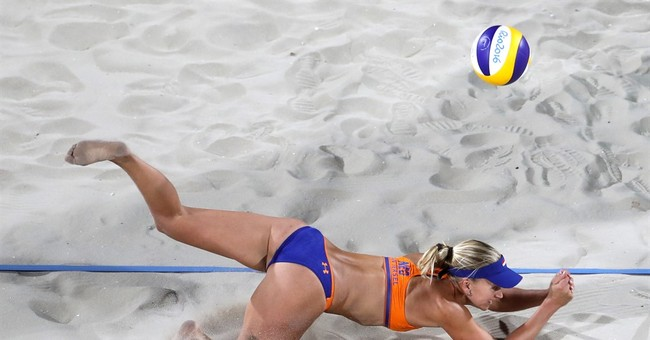 Volleyball replay challenge system at Olympics for 1st time