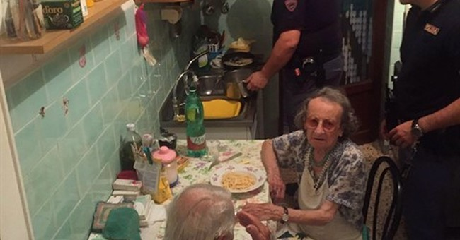 Rome police 'rescue' elderly couple with 2 plates of pasta