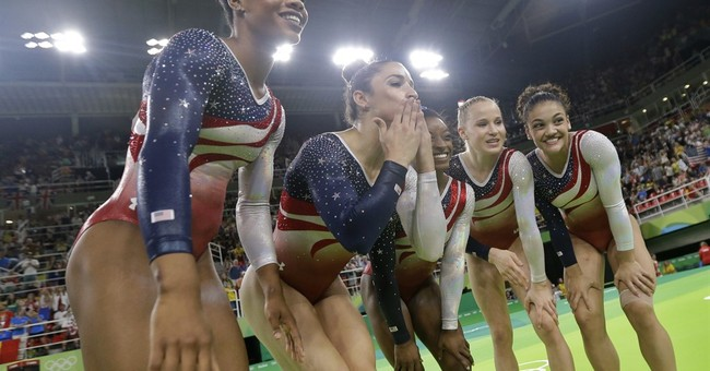 US women gymnasts, Phelps, Ledecky all golden again