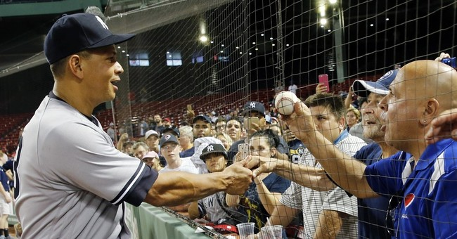 Stormy finale: A-Rod doubles, plays 3rd, exits with win