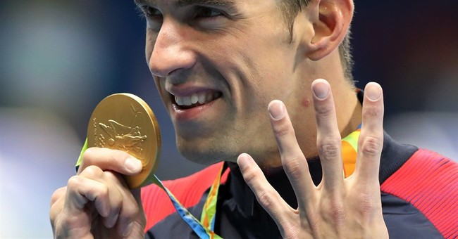 Who's more excited: Michael Phelps or Rowdy Gaines?