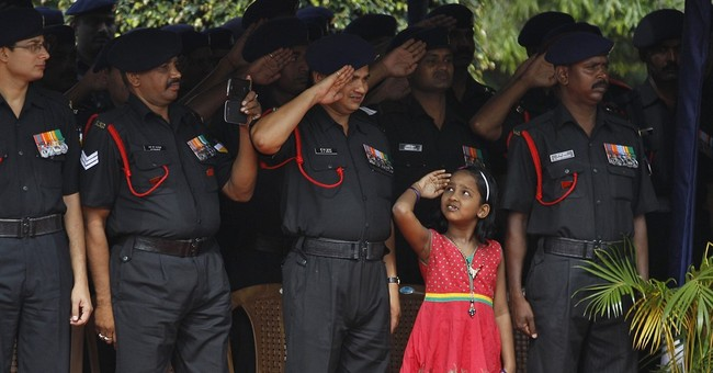 Image of Asia: Saluting India's flag at army induction