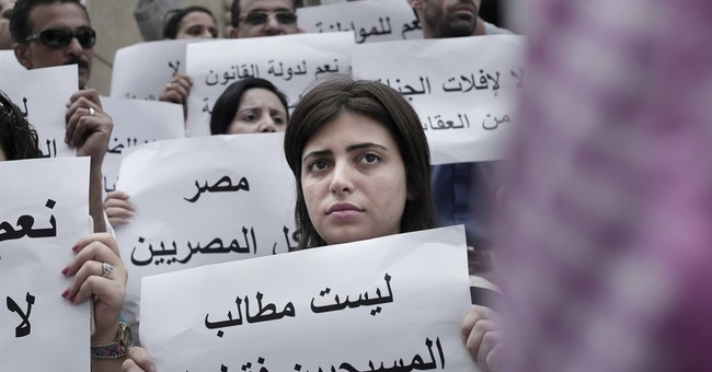 Egypt Christians stage rare Cairo protest, demanding rights