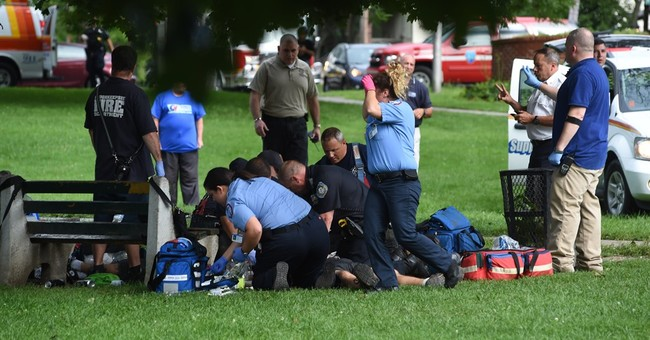 The Latest: 1 dead from lightning, 4 hurt in separate strike