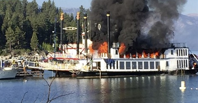 2 injured, fire contained on docked Tahoe paddle wheeler