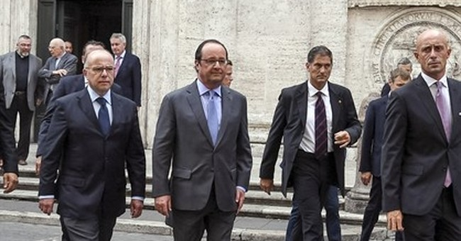 French president visits pope after Islamic attacks