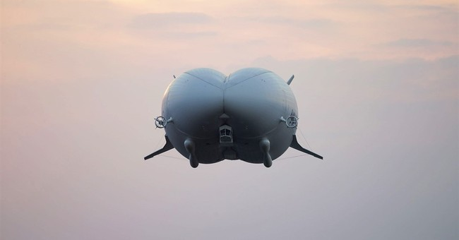 Giant helium-filled airship Airlander takes off for 1st time