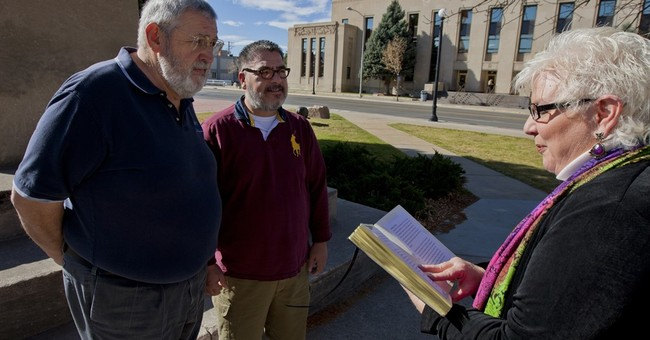 Wyoming's top court weighs judge's same-sex marriage case