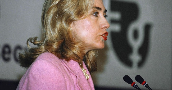 Clinton identity on world stage helped by 1995 China talk