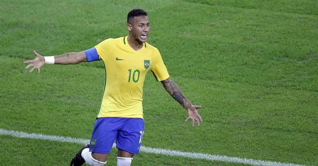 Neymar kick is gold: Brazil wins 1st Olympic soccer title