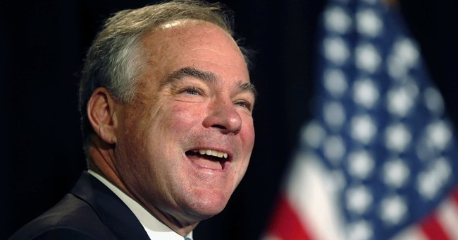 With father in tow, Kaine seeks support from union workers