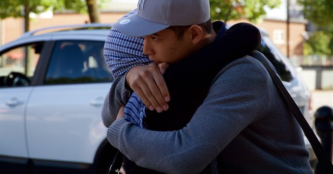 Separated during migrant chaos, family reunites in Sweden