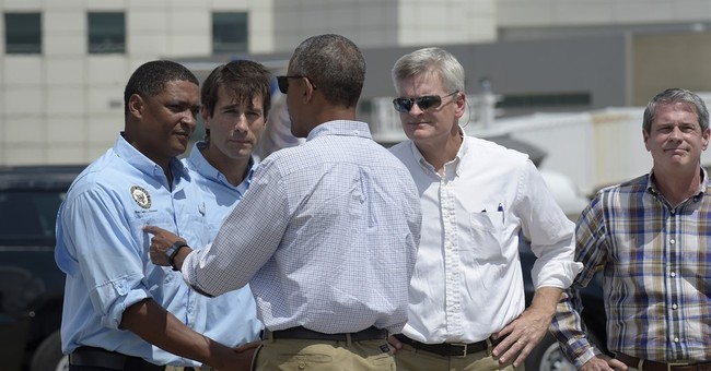 Obama vows support for Louisiana after the 'cameras leave'