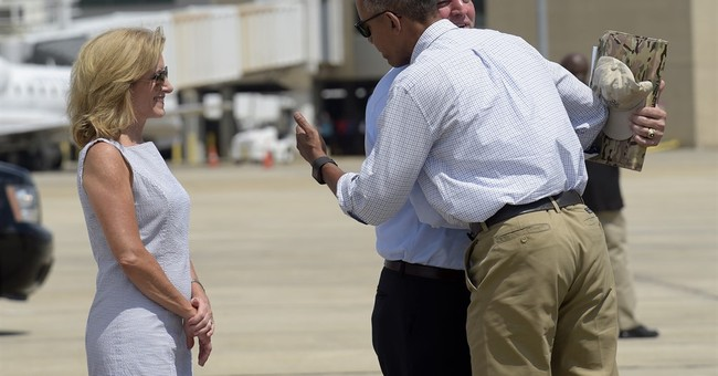 The Latest: Louisiana residents turn out for Obama visit