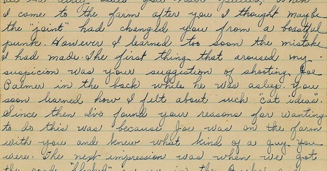 Sour letter from Bonnie and Clyde to ex-ally up for auction