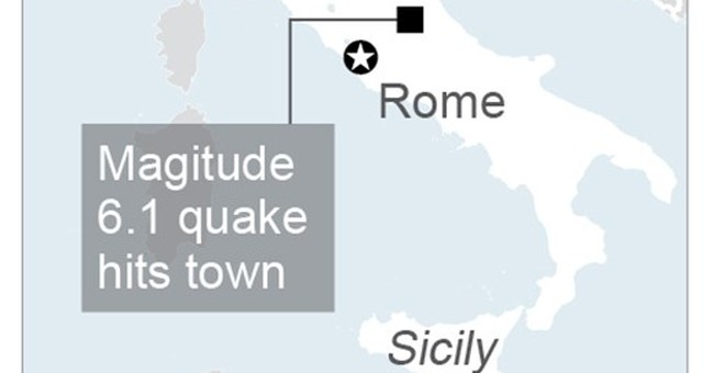"Strong quake rattles central Italy: ""The town isn't here"""