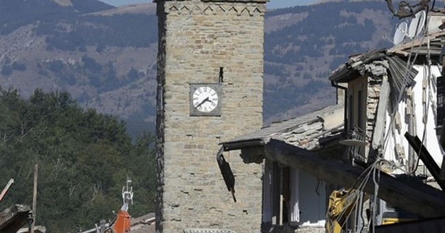 The Latest: Strong aftershock rattles Italy's quake zone