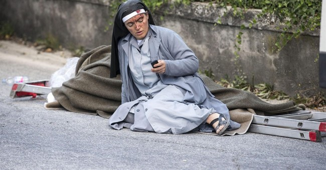 Nun in iconic Italy quake photo texted friends 'adieu'