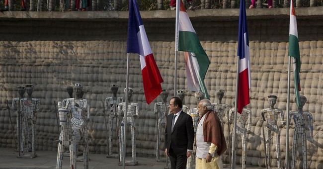 French president in India to strengthen strategic ties