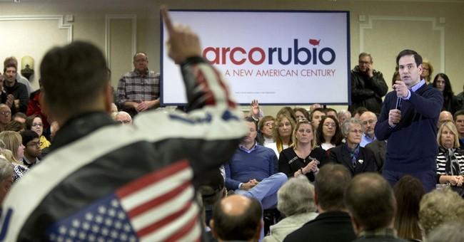 Rubio Iowa closing argument attacks Clinton, not GOP rivals