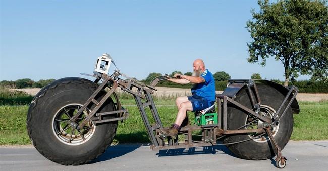 Behemoth bike: German eyes world record for heavy pedaling